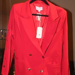 Red Button Blazer